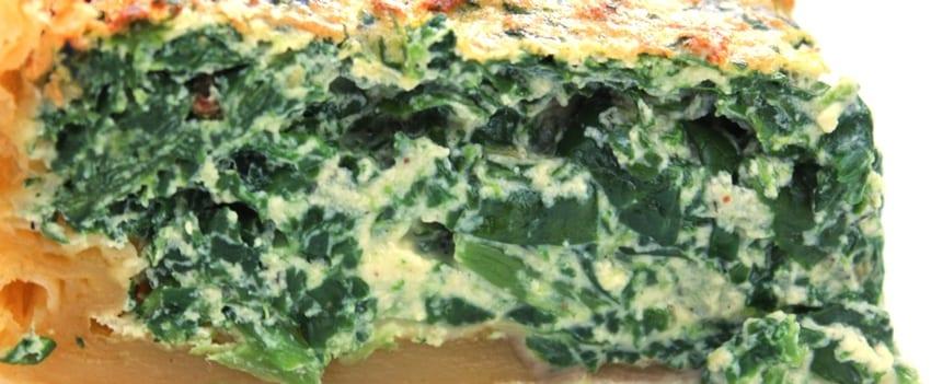 Bladerdeegtaart met spinazie en ricotta - breed
