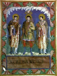 Knoflook - Karel de Grote met de paus en Lodelijk