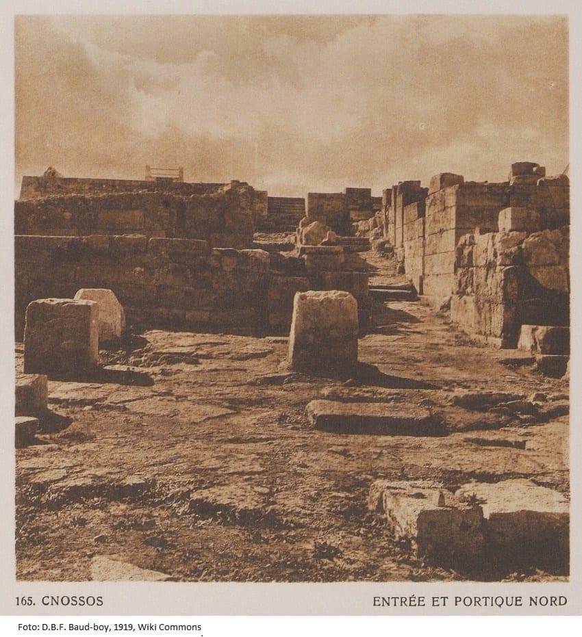 Knoflook - Knossos - foto D B F Baud-boy 1919 Wiki Commons 2