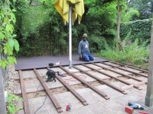 Bamboe terras -nieuw aanleg (Custom)