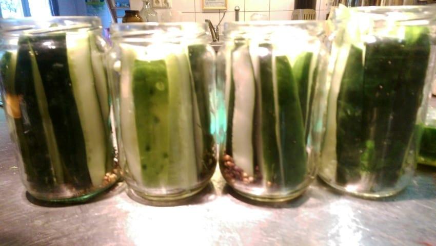 Komkommers inmaken mergenmetz - De komkommers ...