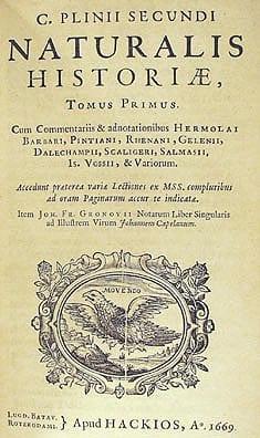 Naturalis Historia - Plinius
