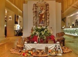 Tuinboon - Sint Jozef altaar