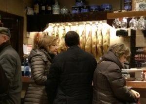 Uit eten in Spanje - Bilbao - hammen - besneden