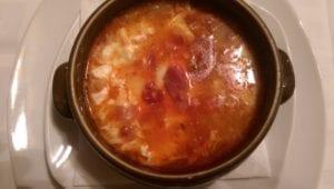 Uit eten in Spanje - El Yelmo - sopa Castiliana