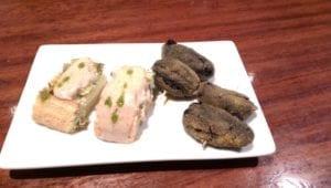 Uit eten in Spanje - Oiartzun - pintxos 1