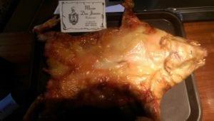 Uit eten in Spanje - Segiovia - cochinillo 3