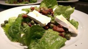 Salade van kapucijners spek en brie 2