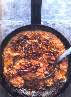 Easy curry vegetarisch - linzen met sjalot