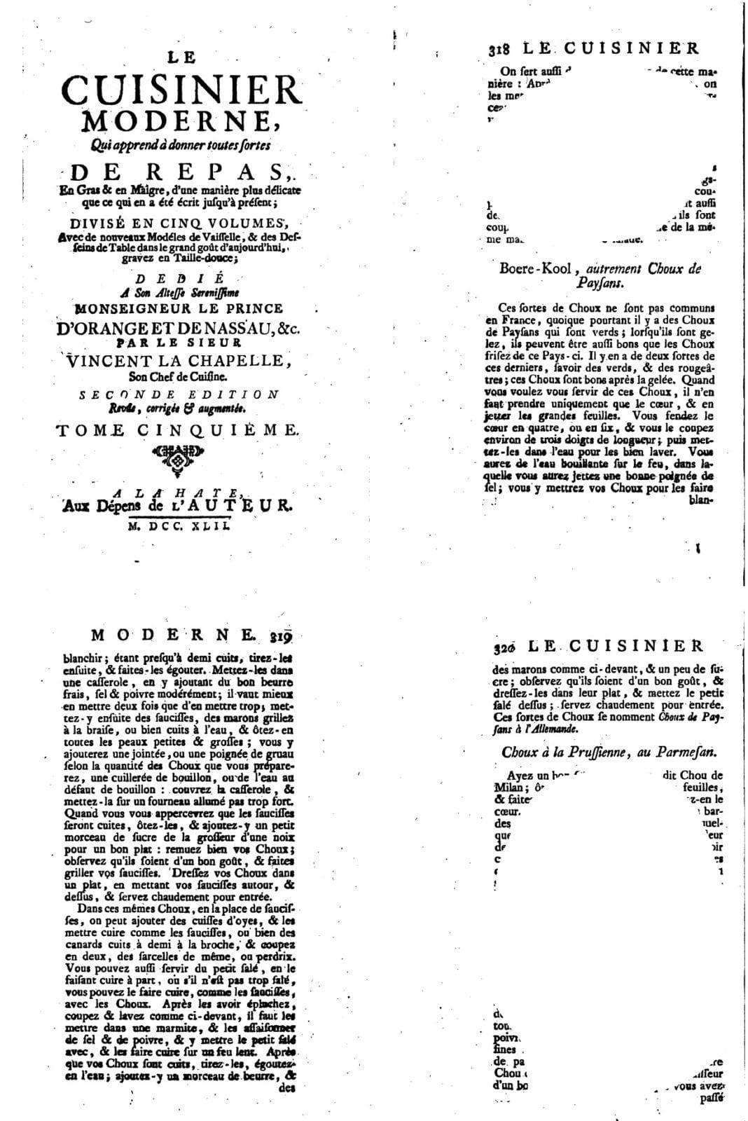 Boerenkool met gort en kastanjes - boek Vincent La Chapelle bij elkaar