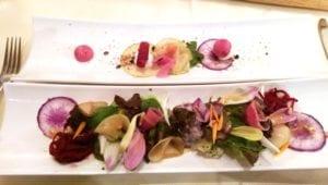 Eten bij De Gulle Waard - Groenten en bloemen