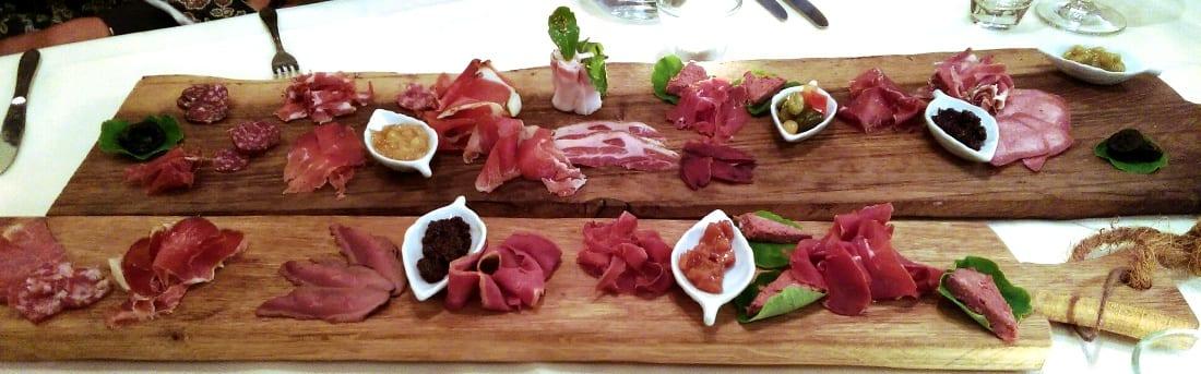 Eten bij De Gulle Waard - Plank met vleeswaar