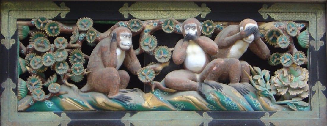 Het jaar van de - apen horen zien en zwijgen