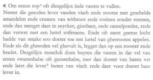 Zwaan in Eenen Nyeuwen Coock Boeck